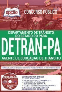 Baixar Apostila DETRAN PA 2019 PDF - Agente de Educação de Trânsito