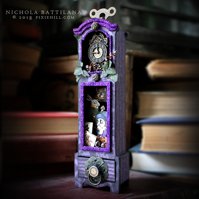 Hallowe'en in Wonderland Clock #G45DarkSide Nichola Battilana
