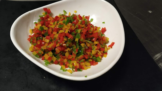Chopped bell peppers food recipe dinner ideas