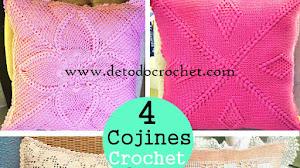 4 Cojines o Almohadones Crochet / Patrones