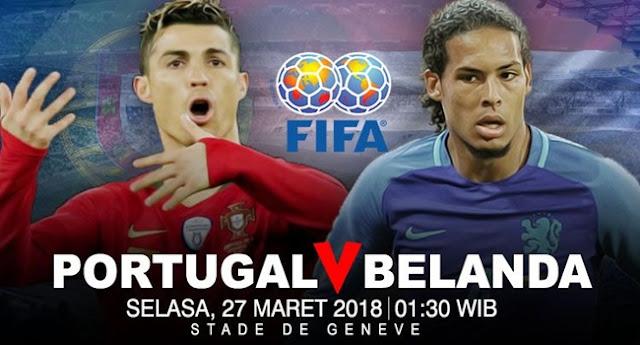 Prediksi Portugal vs Belanda 27 Maret 2018