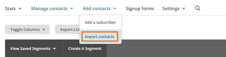 mailchimp-importar