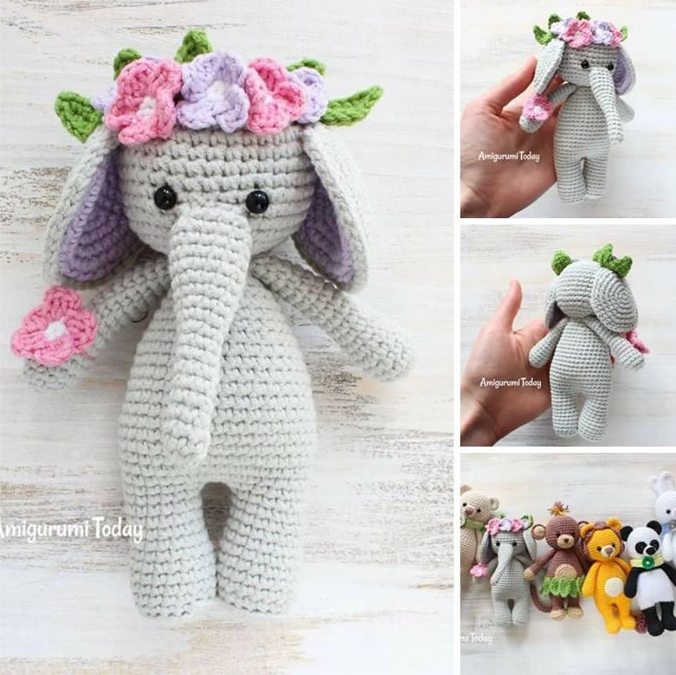Elephant Amigurumi Pattern (Instructions)