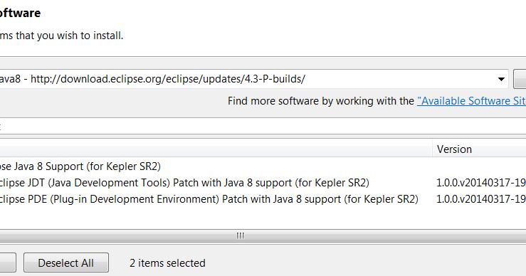 bigdev de: Tutorial: Installing Java 8 support for Eclipse Kepler