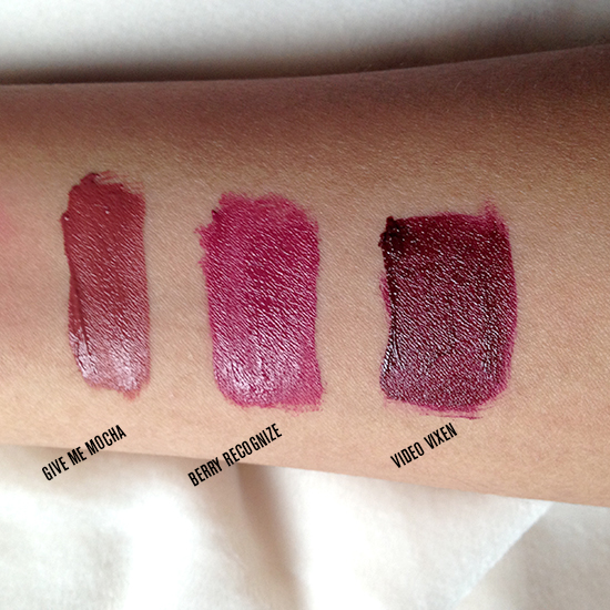 Wet 'n' Wild Liquid Catsuit Lipsticks (Give Me Mocha, Berry Recognize, Video Vixen)