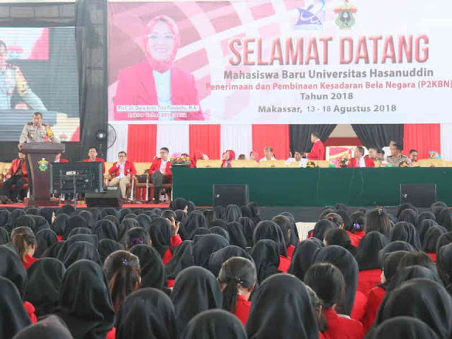 Umar Septiono Sampaikan Bela Negara di Universitas Hasanuddin