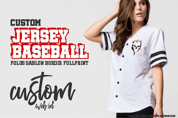 Custom Baju Jersey Baseball Murah Kirim Seluruh Indonesia