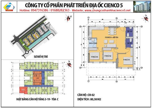 Sơ đồ thiết kế căn 02 chung cư B2.1 HH02C Thanh Hà Cienco 5