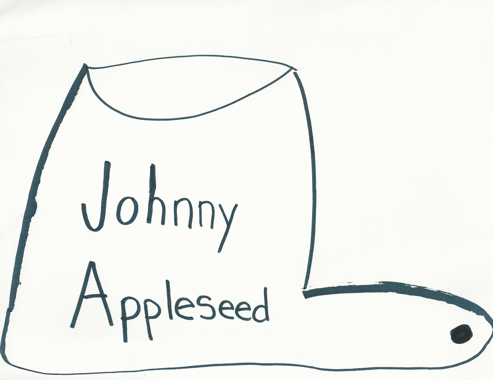 Worksheet Johnny Appleseed Hat