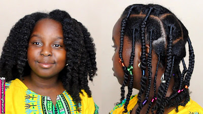 African Threading, Braids, and Twists | Natural Hair Kids Style |African Naturalistas