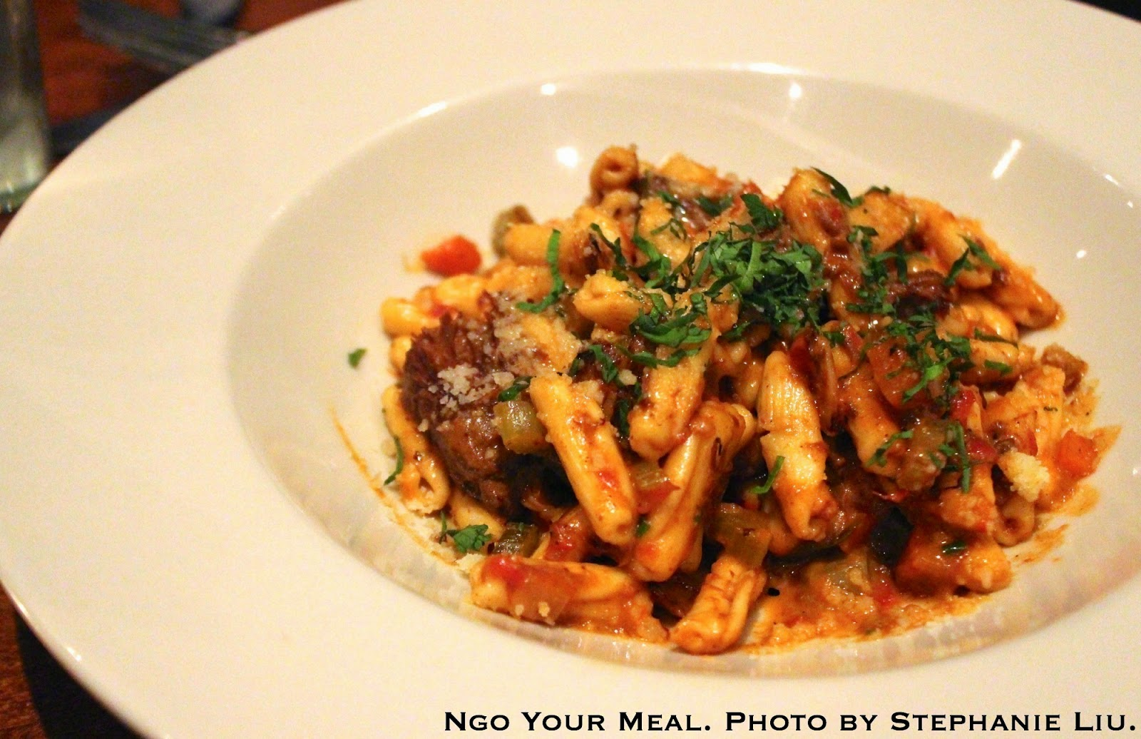 Cavatelli: ten-hour short rib ragu and mascarpone at Jane