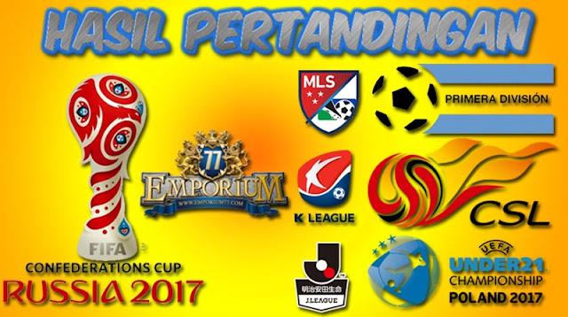 Hasil Pertandingan Bola, Sabtu 25 NOVEMBER 2017