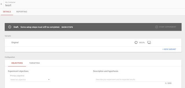 利用Google Optimize進行實驗設置
