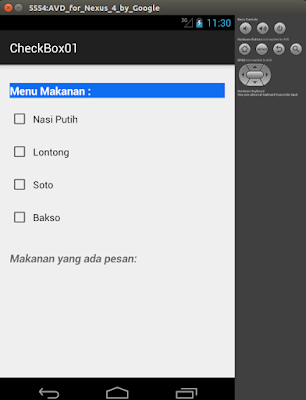 http://wahcilik.blogspot.com/2016/05/checkbox-project-android.html