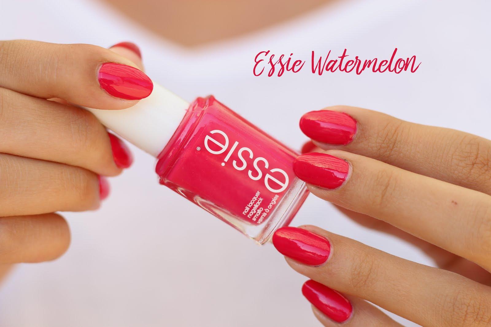 essie nailpolish, essie watermelon, essie nail polish watermelon, essie nail polish, watermelon