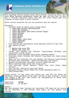 Lowongan Kerja BUMN Terbaru Lowongan Kerja Terbaru PT Indra Karya (Persero) Besar Besaran Tahun 2017