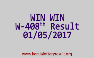 WIN WIN Lottery W 408 Results 1-5-2017