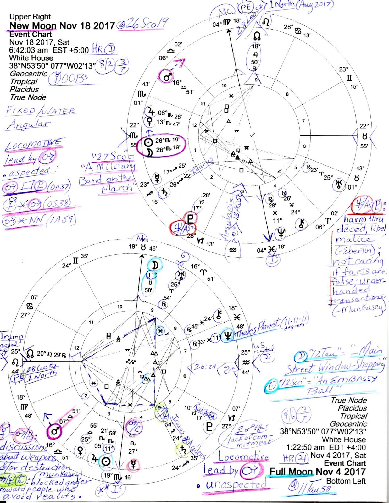 Stars over washington october 2017 here are the lunations full and new moons of november 2017 the charts are set for the white house and both show warrior mars in venus ruled libra as lead pooptronica