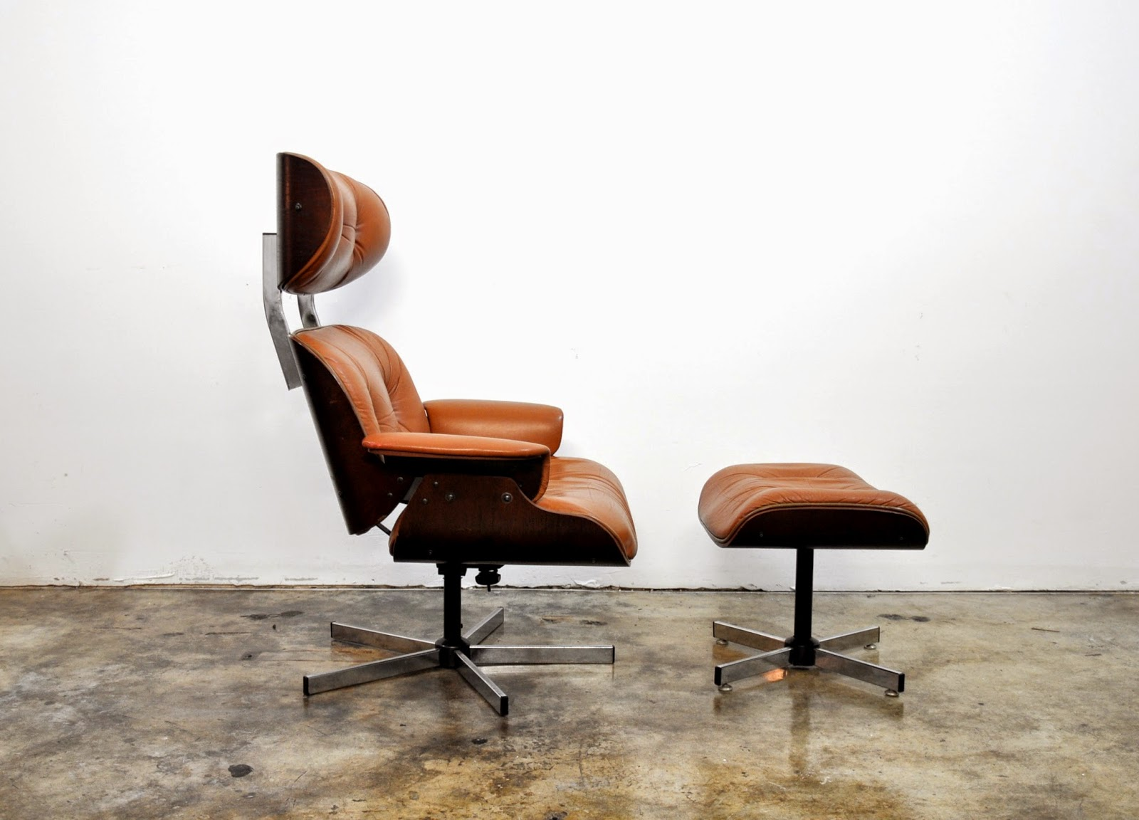 Selig Plycraft Lounge Chair Parts Salon Accessories Select Modern Eames Leather And Ottoman