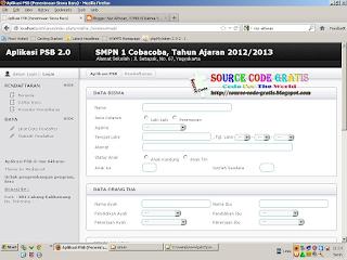 Free Download PHP Source Code Aplikasi Penerimaan Siswa Baru