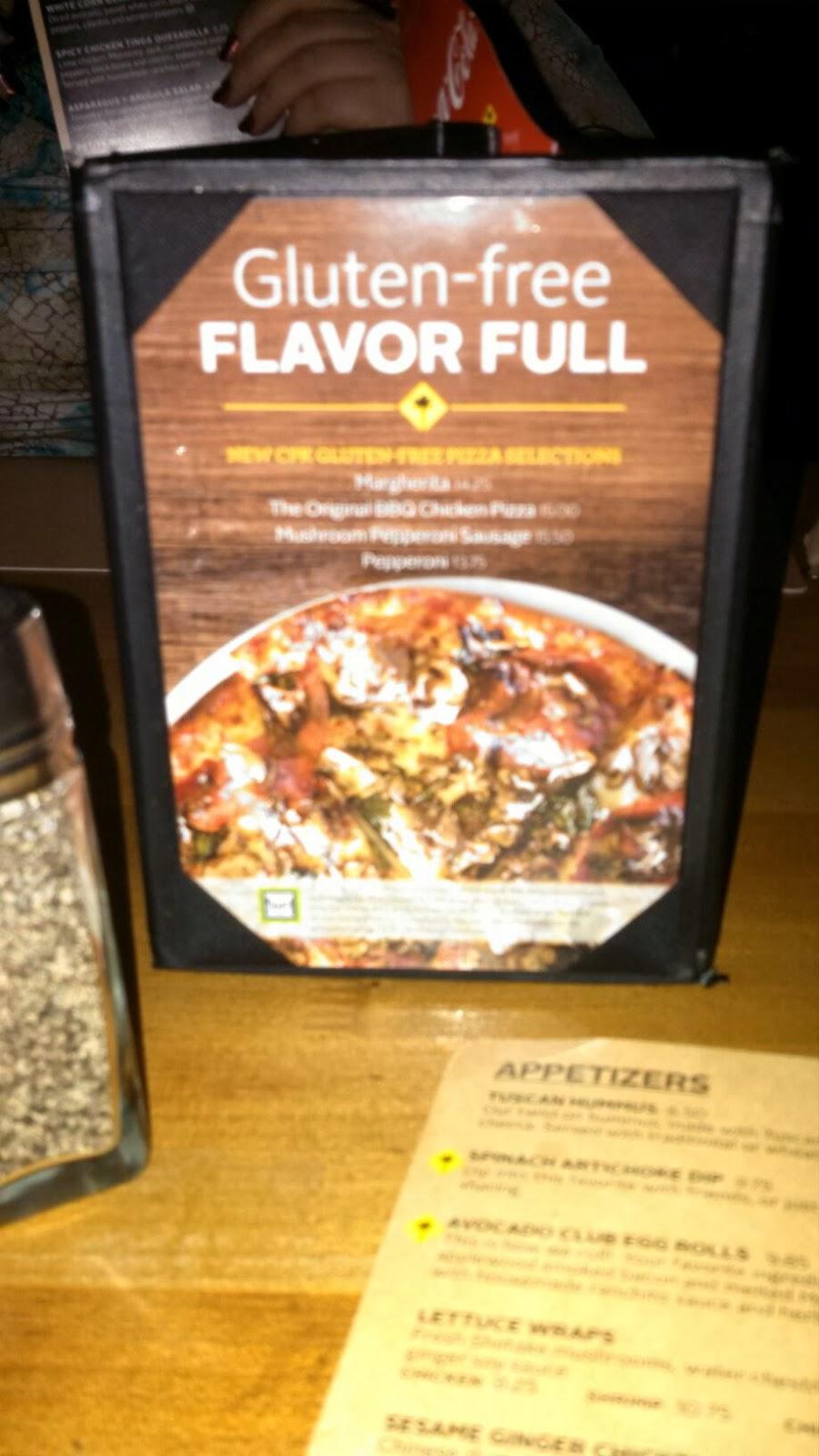 California Pizza Kitchen Gluten Free Pizza Allergy