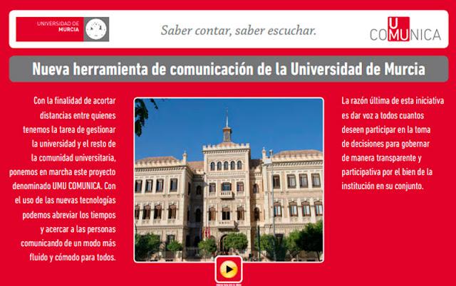 Nueva herramienta de comunicación de la Universidad de Murcia.