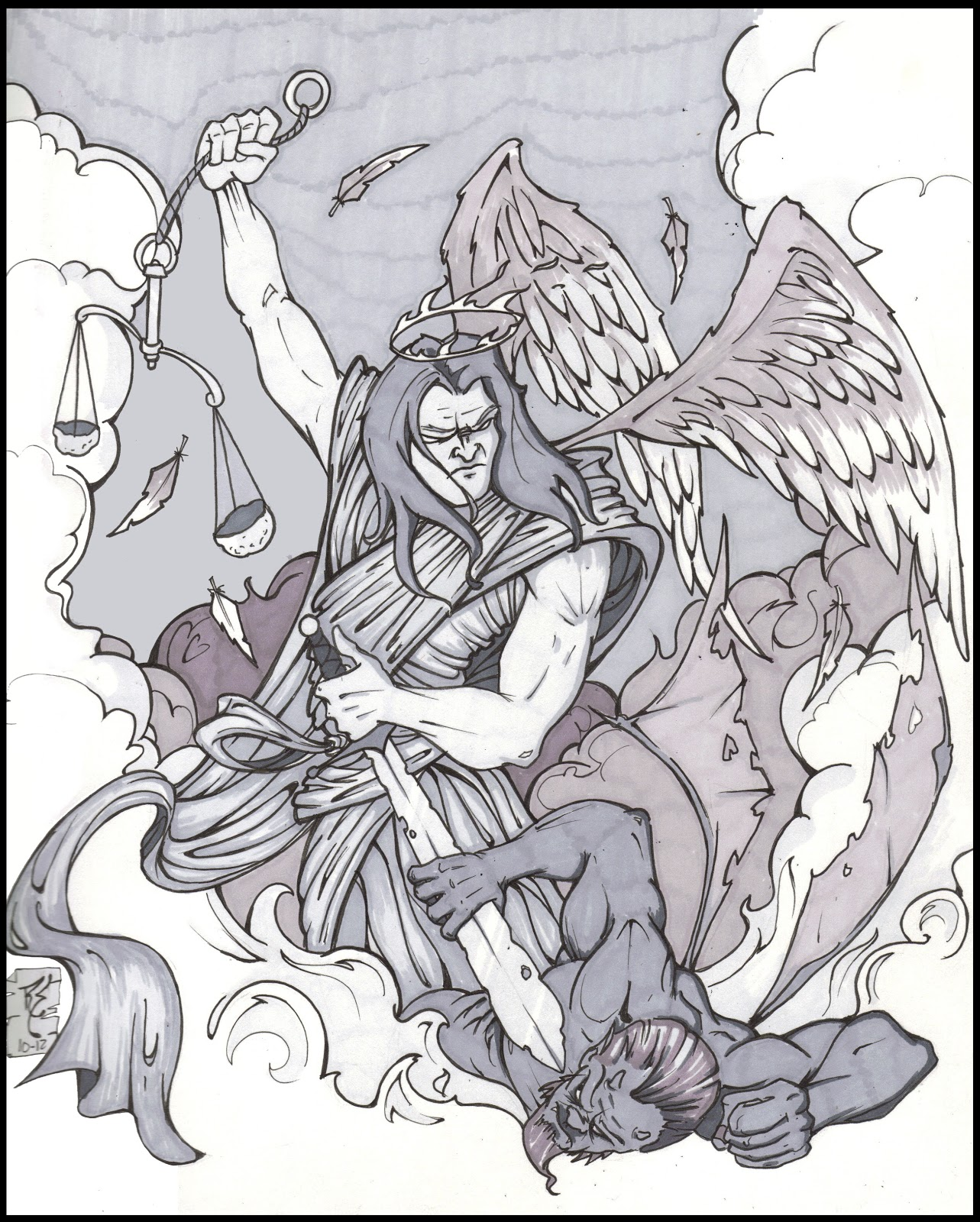 Download image Archangel Michael Tattoo Designs PC, Android, iPhone ...