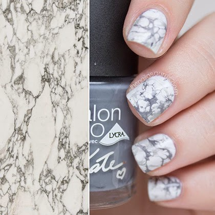 Marble effect nail art by The Nailasaurus
