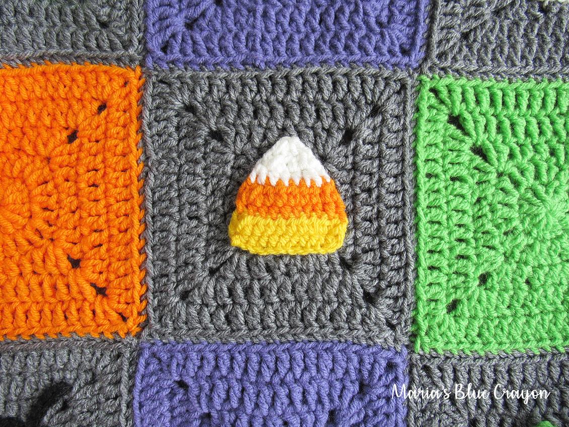 Halloween Candy Corn Granny Square - Free Crochet Pattern - Maria\'s ...