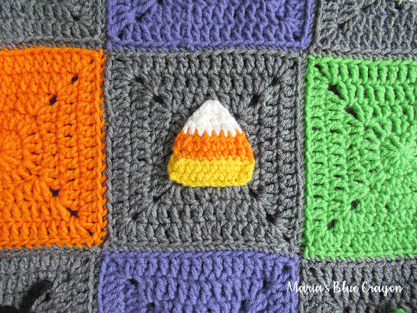 Halloween Candy Corn Granny Square - Free Crochet Pattern