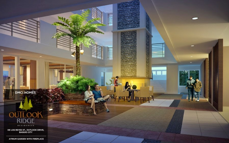 Outlook Ridge Residences LANDSCAPE ATRIUMS WITH FIREPLACE