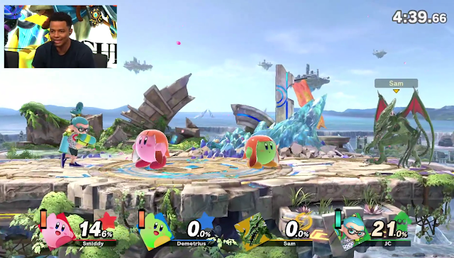 Super Smash Bros. Ultimate Inkling Kirby hat power ability