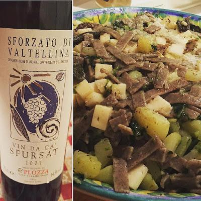 Sforzato di Valtellina pairing with pizzoccheri