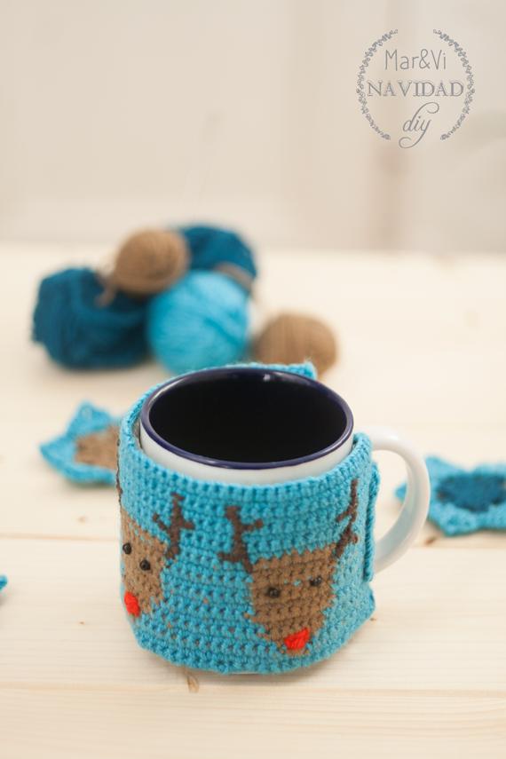 Cubre taza de crochet