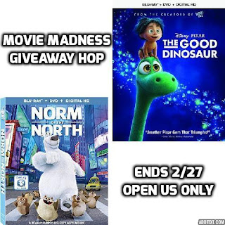 Enter the Movie Madness Giveaway Hop. Ends 2/27.