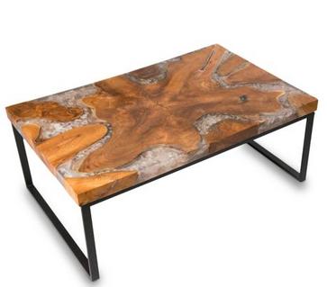 meja resin unik untuk cafe