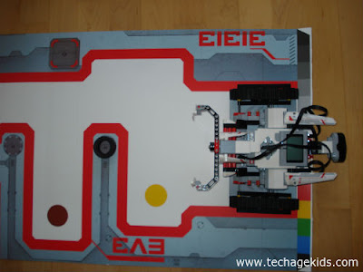 EV3 challenge mat from packaging