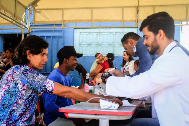 Em Delmiro Gouveia, I Saúde   realiza mais de 1.000 atendimentos na comunidade do Povoado Jurema