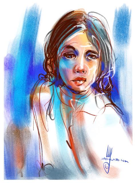 Portrait color sketch by Artmagenta