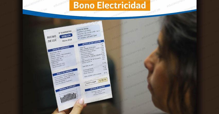 OSINERGMIN: Lista de Beneficiarios Bono Electricidad S/ 160.00