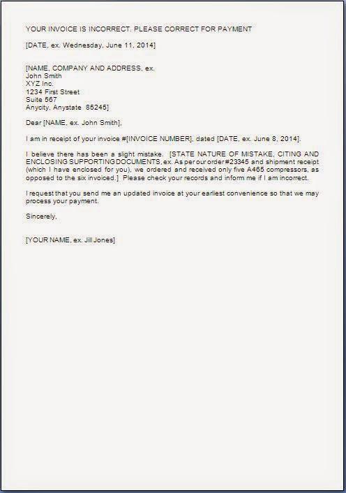 Bill Claim Letter Sample Letter Billing Dispute Sample And Medical