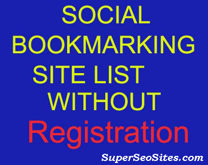 Social Bookmarking Sites List Without Registration