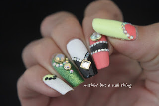 Bright and blingy nail art design ideas