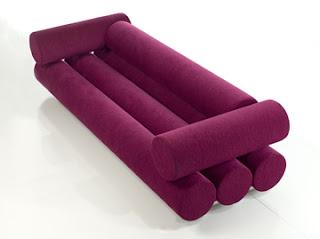 Diseño de sillón único color morado