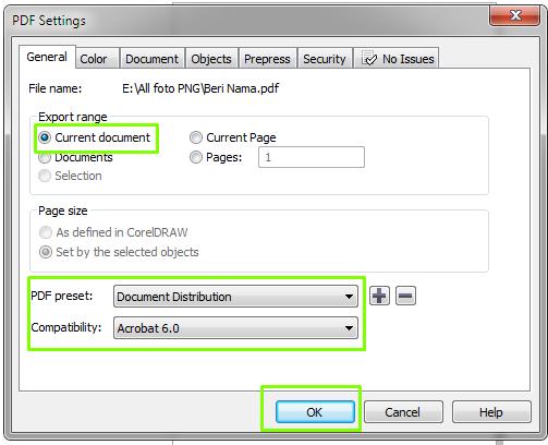 cara Eksport Desain Ke Format PDF