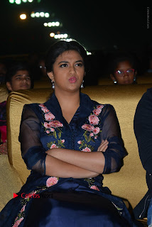 Actress Keerthi Suresh Stills in Blue Long Dress at Nenu Local Audio Launch  0028.JPG
