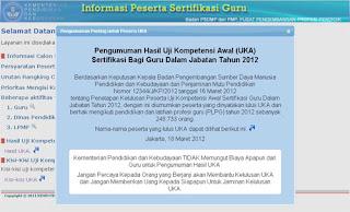 www.sergur.kemdiknas.go.id - Pengumuman Sergur Uka 2012