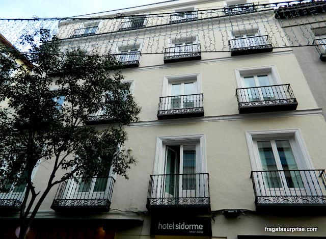Fachada do Hotel Sidorme Fuencarral 52, no bairro de Chueca, Madri
