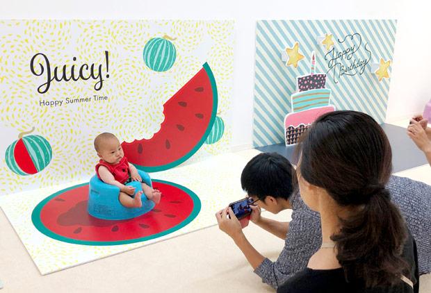 赤ちゃんから小学生まで楽しめる「OYACO nohana(オヤコノハナ)」のおすわりブース