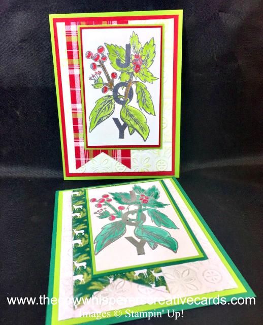 Card, Joy & Noel, Under the Mistletoe Designer Series Paper, Heat Embossing, Watercolor